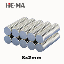 imanes 50Pcs 8x2 Neodymium Magnet Permanent N35 NdFeB Super Strong Powerful Magnetic Small Magnets HE-MA Disc 8mmx2mm