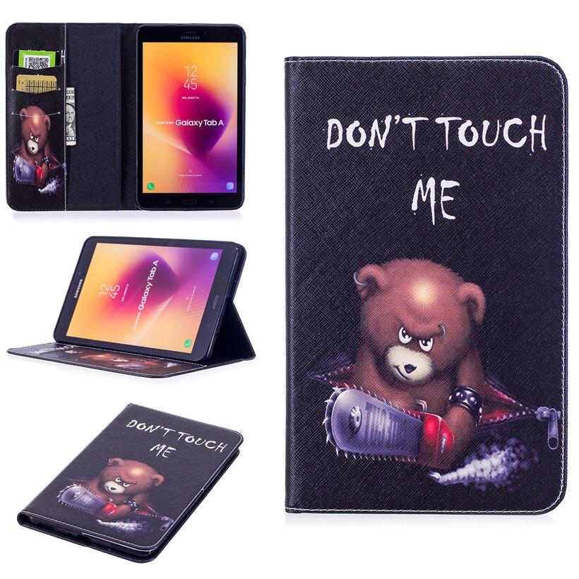 Fashion Panda Owl Pattern Case For Samsung Galaxy Tab A 8.0 SM-T380 T385 2017 8.0