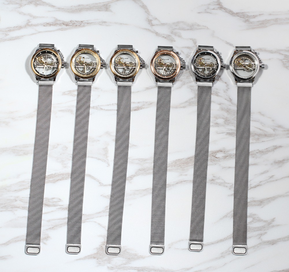 cb1e5322b50 -projetado pelo renomado Forsining Relógio Maker. ele é um incrível projeto  de sua equipe de projeto.