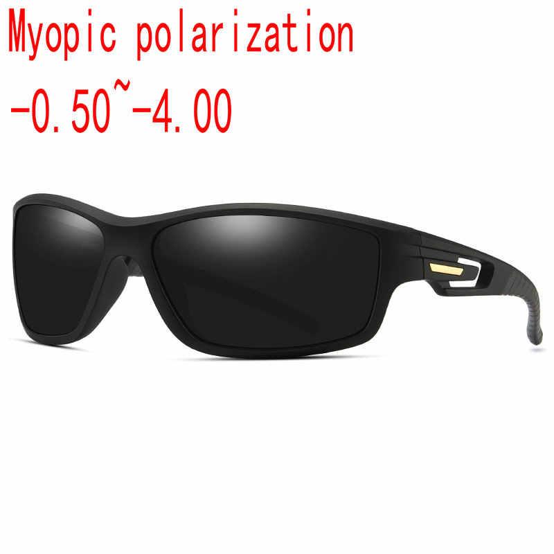 10d386f19b 2019 men Custom Made Myopia Minus Prescription Polarized Lens Fashion box  sports polarized sunglasses male Colorful