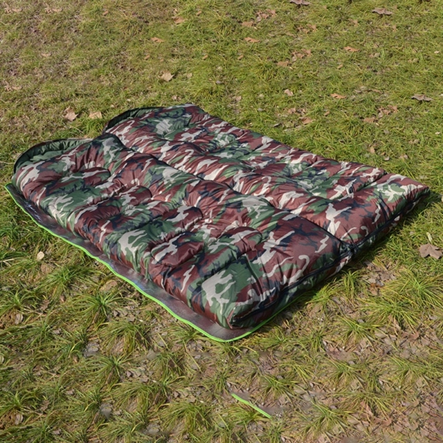 Outdoor Adult Cotton Camping Sleeping Bag Envelope Style Camouflage Warm Waterproof Travel Hooded Sleeping Bags 6