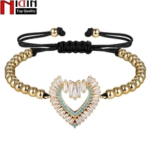 NIDIN Cute Stylish Vintage Charm Bracelets & Bangles For  Women Hot Handmade Heart Shape Bangle Bracelet Fine Jewelry Gift