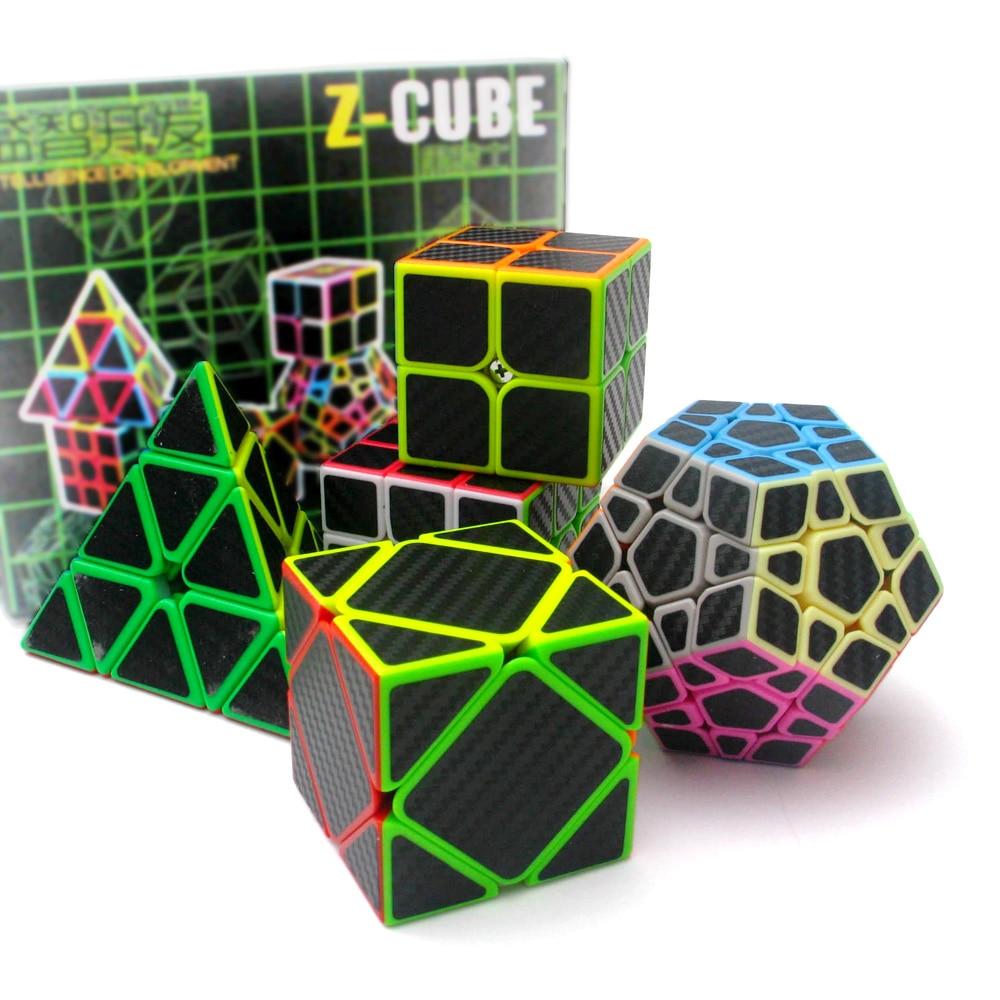 D-fantix Cube professionnel jeu de Puzzle Z CUBE 5 pièces pyramide Dodecahedron Cube en Fiber de carbone magique vitesse Cube jouets éducatifs