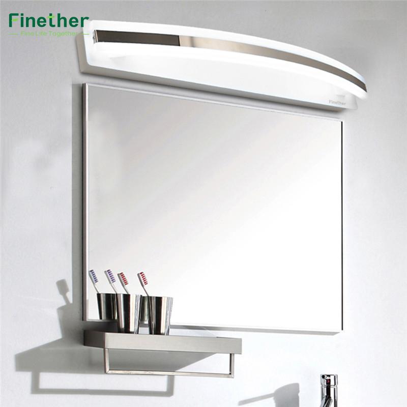 finether w blanco estilo espejo del bao de luz smd v moderna