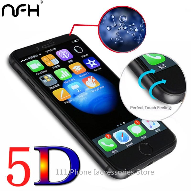Copertura completa 5D Vetro per iphone 7 In Vetro Temperato Per il iphone 6 6 S 7 e Super Esplosione protector Pellicola di Vetro Su 6 6 S 7 4.7