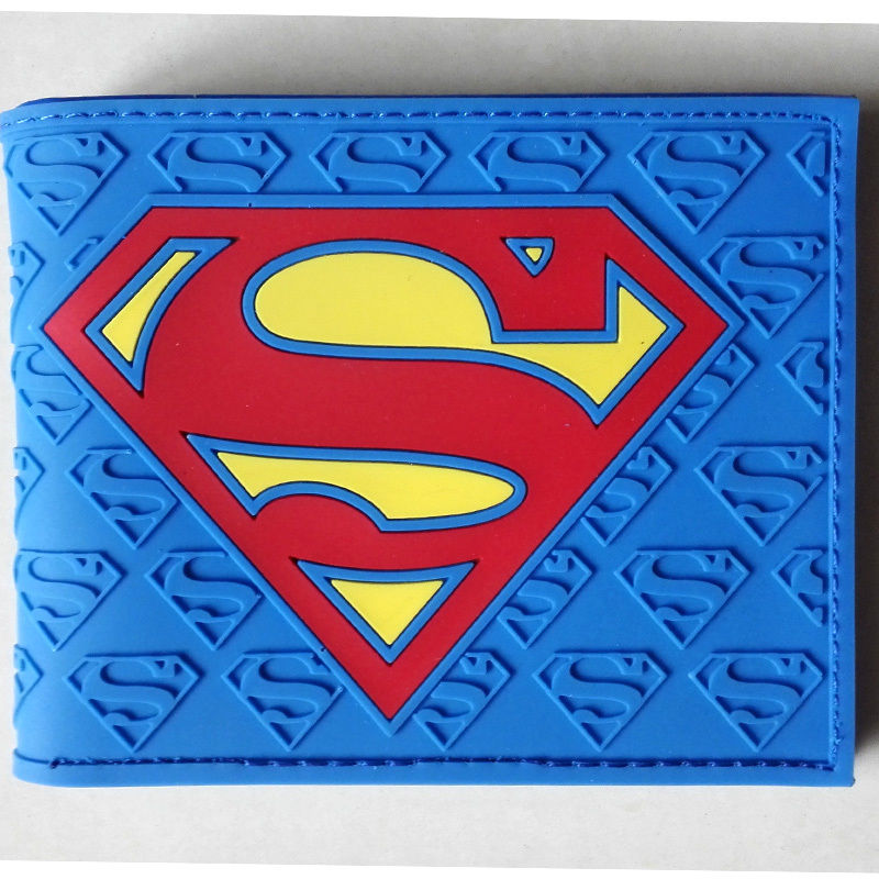 2018 DC Comics Superman S Logo wallets Purse Blue  Plastic Leather New Hot W078