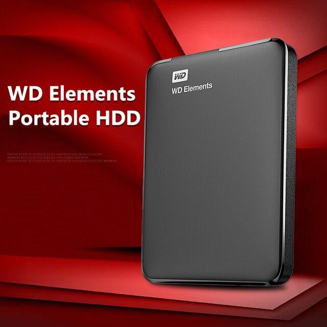 "Western Digital WD Elements портативный HDD внешний hdd 1 ТБ 2 ТБ HDD 2,5 ""USB 3,0 жесткий диск 3 ТБ 4 ТБ оригинальный для ПК ноутбука"