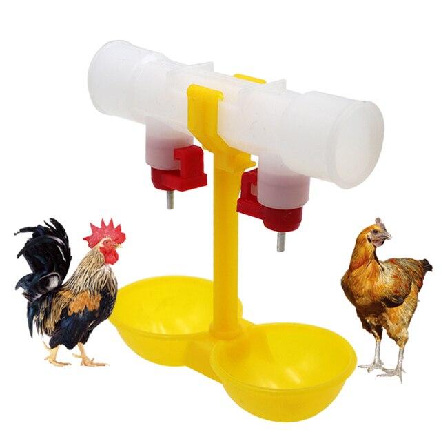 15 قطعة كوب ماء الدجاج معلقة مزدوجة أكواب الدواجن بطة حمامة السمان شرب كوب وعاء الماء الأصفر الكرة الحلمة ل أنابيب 25 مللي متر