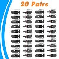 20 пар MC4 разъем мужчина и женщина MC4 Панели солнечные разъем для солнечной кабеля Подходящий кабель сечения 2.5mm2 ~ 6.0mm2 MC
