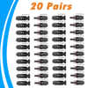 20 Pairs MC4 Connector Male and Female MC4 Solar Panel Connector for Solar Cable Suitable Cable Cross Sections 2.5mm2~6.0mm2 MC