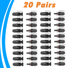 20 Pairs Solar Connector Male and Female  Solar Panel Connector for Solar Cable Suitable Cable Cross Sections 2.5mm2~6.0mm2 IP67