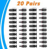20 paires MC4 connecteur mâle et femelle MC4 panneau solaire connecteur pour câble solaire adapté câble Sections transversales 2.5mm2 ~ 6.0mm2 MC