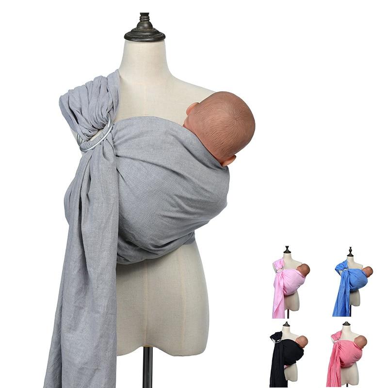 The New Baby Carrier Sling For Newborns Cotton Linen Soft Infant Wrap Breathable Wrap Newborns Best Shower Gift For Girls & Boys
