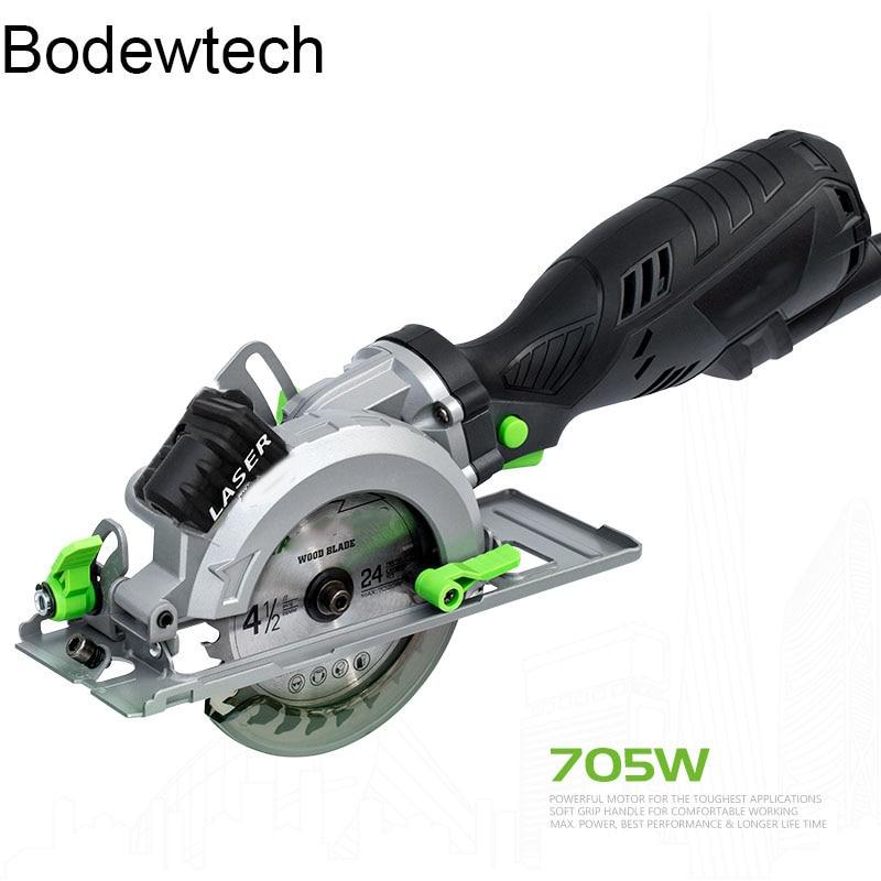 BDWTECH BTC02 Electric  Mini Circular Saw  With Laser For Cut Wood,PVC Tube 705W Power Tool Circular Saw  45 Degree Cutting