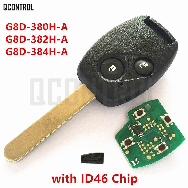 QCONTROL Voiture À Distance Key Fit pour Honda pour Accord Element CR-V HR-V Fit Ville Odyssey Navette Civic