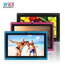 7inch Quad core android 4.4 kids tablet pc Q8 Q88 flashlight allwinner 512M 8GB bluetooth HD 1024*600 tablets dual camera wifi