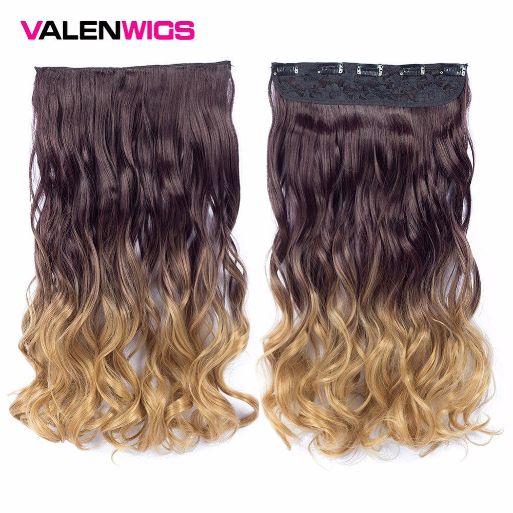 Valen Wigs Synthetic Heat Resistant 22 Ombre Wigs Chocolate Brown