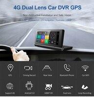 5.0 автомобилей Android GPS видеорегистратор вождение запись двойной объектив камеры навигатор заднего вида и 4 г/3G Wi Fi и с телефона Bluetooth Hands Free