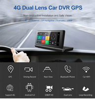 5.0 car Android GPS DVR driving record Dual lens camera Navigator rear view And 4G/3G wifi and with phone bluetooth hands free