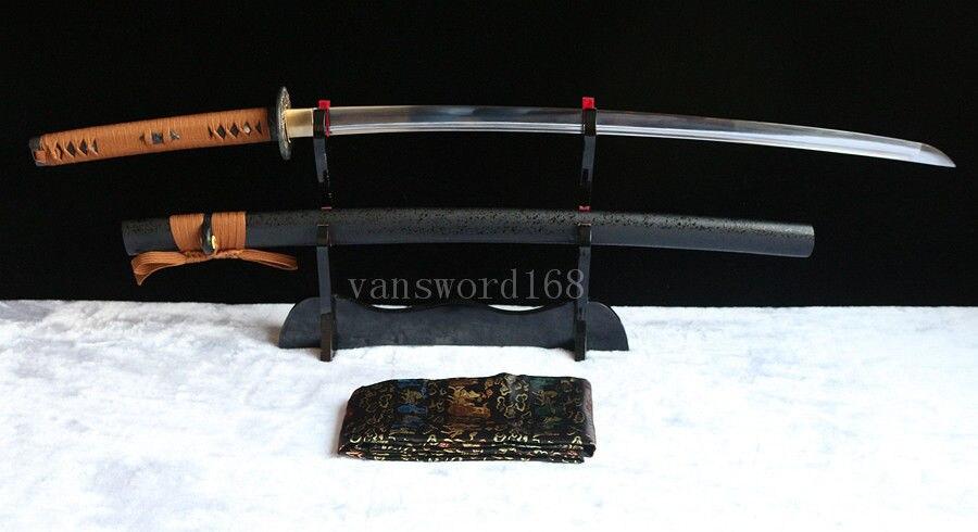Berdiri bebas + pedang Penuh Tang Tangan menempa 1060 baja karbon - Dekorasi rumah - Foto 2