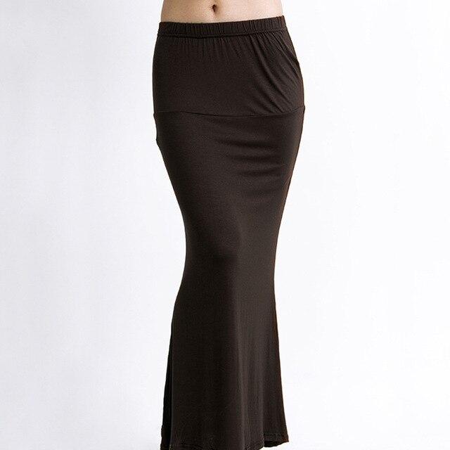 2017 Nueva Europa Moda Casual Trompeta Faldas Mujeres Bohemias de la Playa Falda Larga de Color Sólido Apretado Sexy Lápiz Faldas de La Cadera