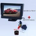 2016 llegada aparcamiento cámara + la pantalla lcd de pantalla ancha 800*480 con 4 ir vista adaptarse para VW Touareg/old Passat/Polo Sedán