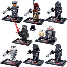 NEW 8pcs/set Star Wars 7: The Force Awakens bb-8 Action Figures Building Blocks Bricks Compatible toys Christmas gift No box