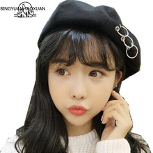 Vintage Style New Painter Hat Winter Berets Women Elegant Sweet Circle Round 6 Colors