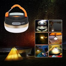 T-SUN Mini Camping Lights 3W LED Camping Lantern Tents lamp Outdoor Hiking Night Hanging lamp USB Rechargeable(China)
