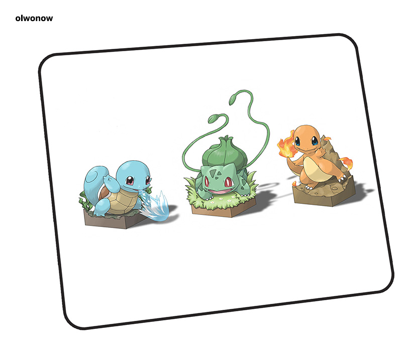 Pokemons Mouse Pad Gamer Gel 35x30cm Notbook Mouse Mat Gaming Mousepad Customized Pad Mouse PC Desk Padmouse