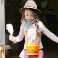 Korean Style New Fashion Cotton Single Breasted Children  Sweater Outerwear  Little Girls Knitted Outerwear Jacket Pink Yellow