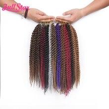 Полная Звезда 1 упаковка Гавана твист крючком косички волос 80 г/упак., синтетические косички волос 12 дюймов, волокна волос для наращивания