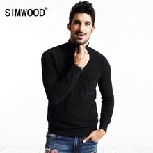 Simwood marke neue herbst winter rollkragenpullover männer casual pullover mode strickwaren my2033
