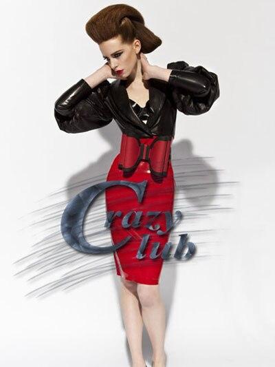 Top vente Pure Nature Latex caoutchouc fantaisie femmes uniforme vêtements fétiche gothique noir et rouge robe avec un grand nœud à la taille