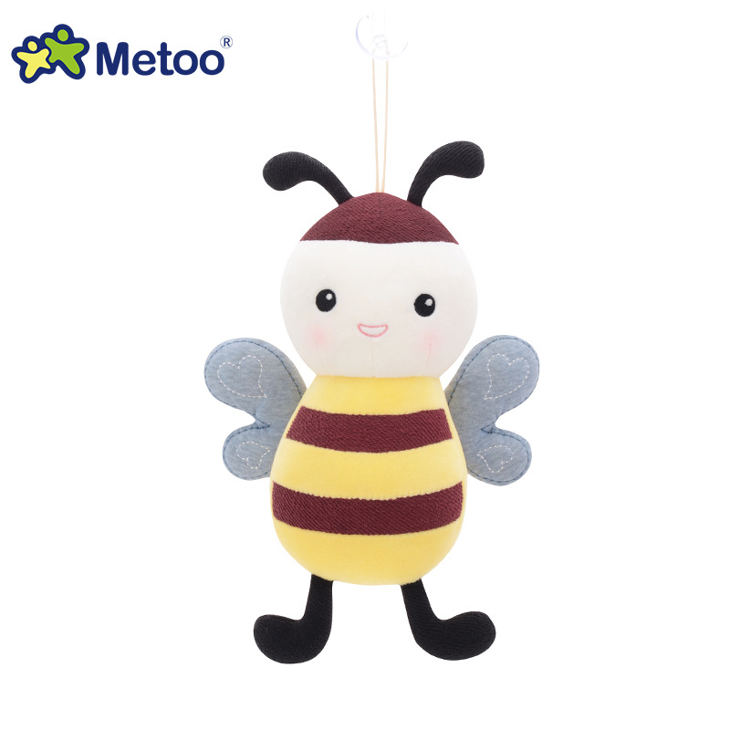 7.5 Inch Kawaii Plush Stuffed Animal Cartoon Kids Toys for Girls Children Baby Birthday Christmas Gift Little Bee Metoo Doll mini kawaii plush stuffed animal cartoon kids toys for girls children baby birthday christmas gift angela rabbit metoo doll