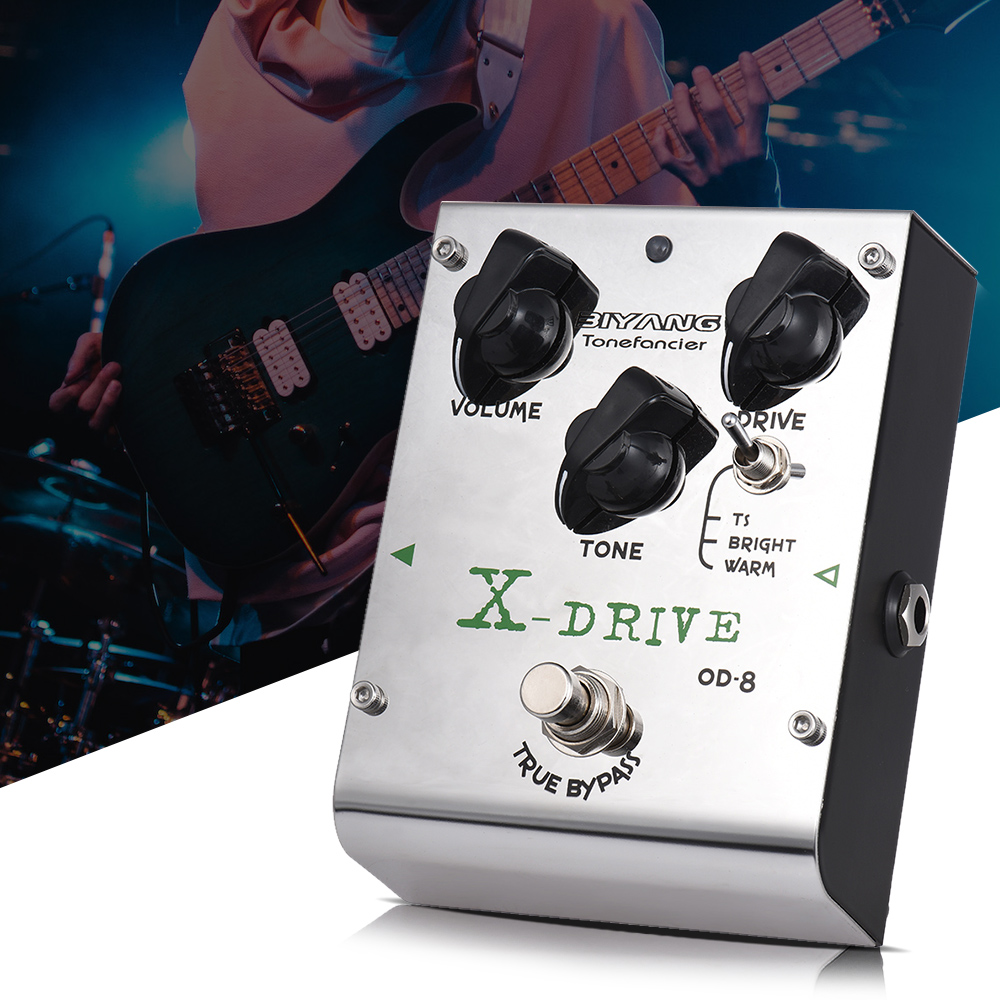 BIYANG OD 8 Guitar Effect Pedal Tonefacier Series 3 Modes Overdrive with 2pcs Extra Exchangeable Chipsets
