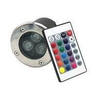 IP67 RGB rot edelstahl lampen unterirdischen beleuchtung outdoor-led 3 watt schritt 12 v deck lichter spot inground boden garten einbau