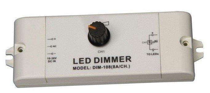 1 канал светодиодный диммер постоянного напряжения, вход DC10-30V, выход 10А