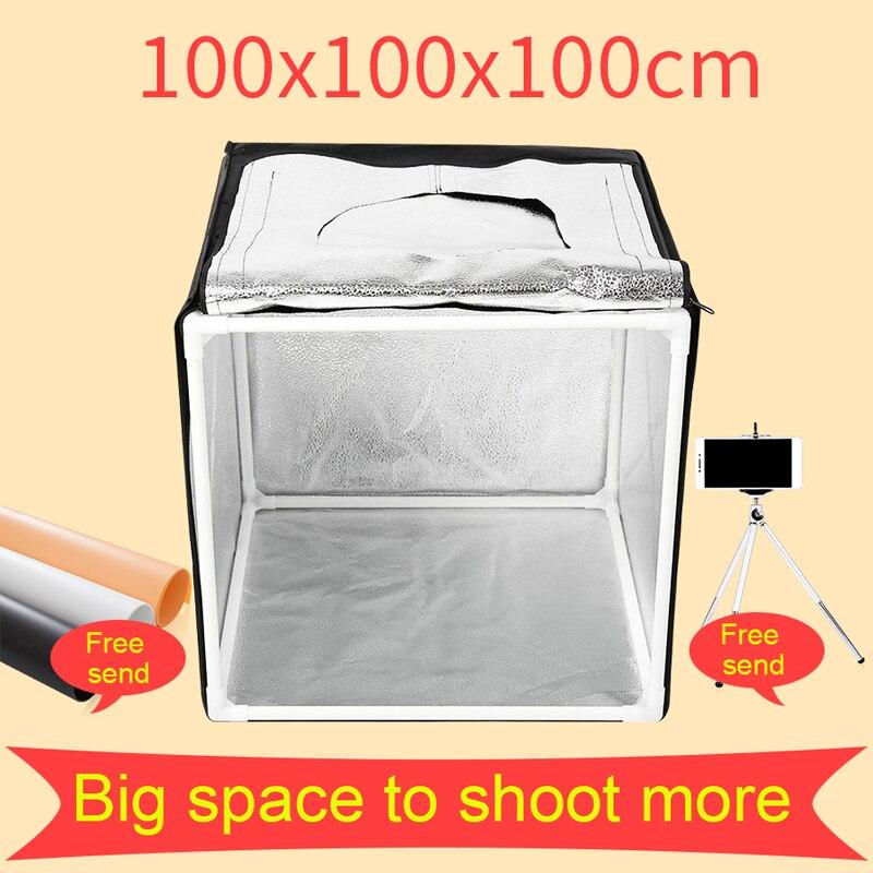100*100 CM Photo Studio Lumière Tente Lightbox Photographie Softbox Tir Boîte à Lumière Avec Cadeau Gratuit
