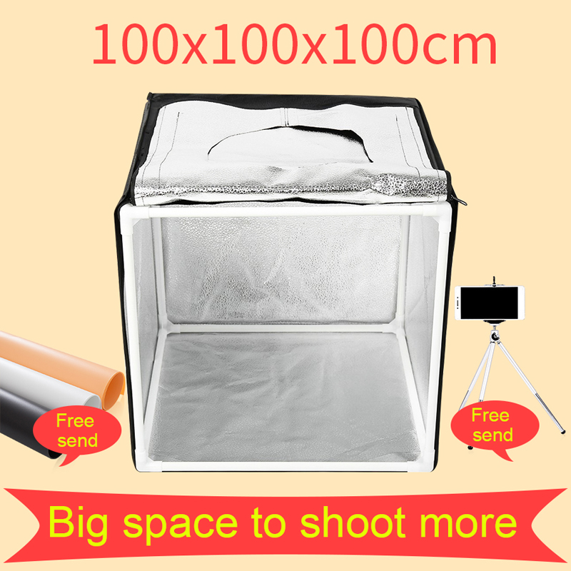 100*100CM Photo Studio Light Tent Lightbox Photography Softbox Shooting Light Box With Free Gift 80 80 80cm portable led photo studio lightbox softbox light tent shooting softbox photography light box for jewelry clothing