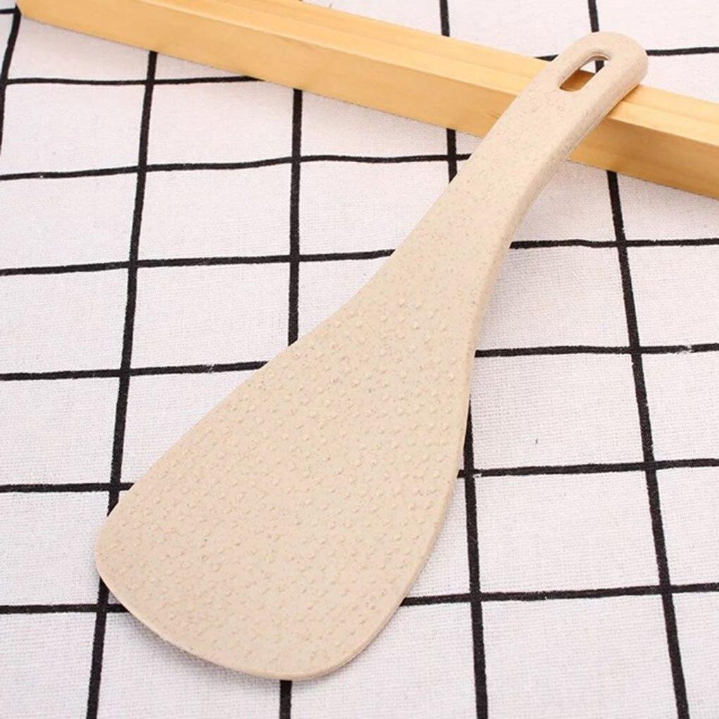 Пшеничная соломенная большая ложка-Лопатка для риса с антипригарным ковшом, аксессуары для кухонного стола