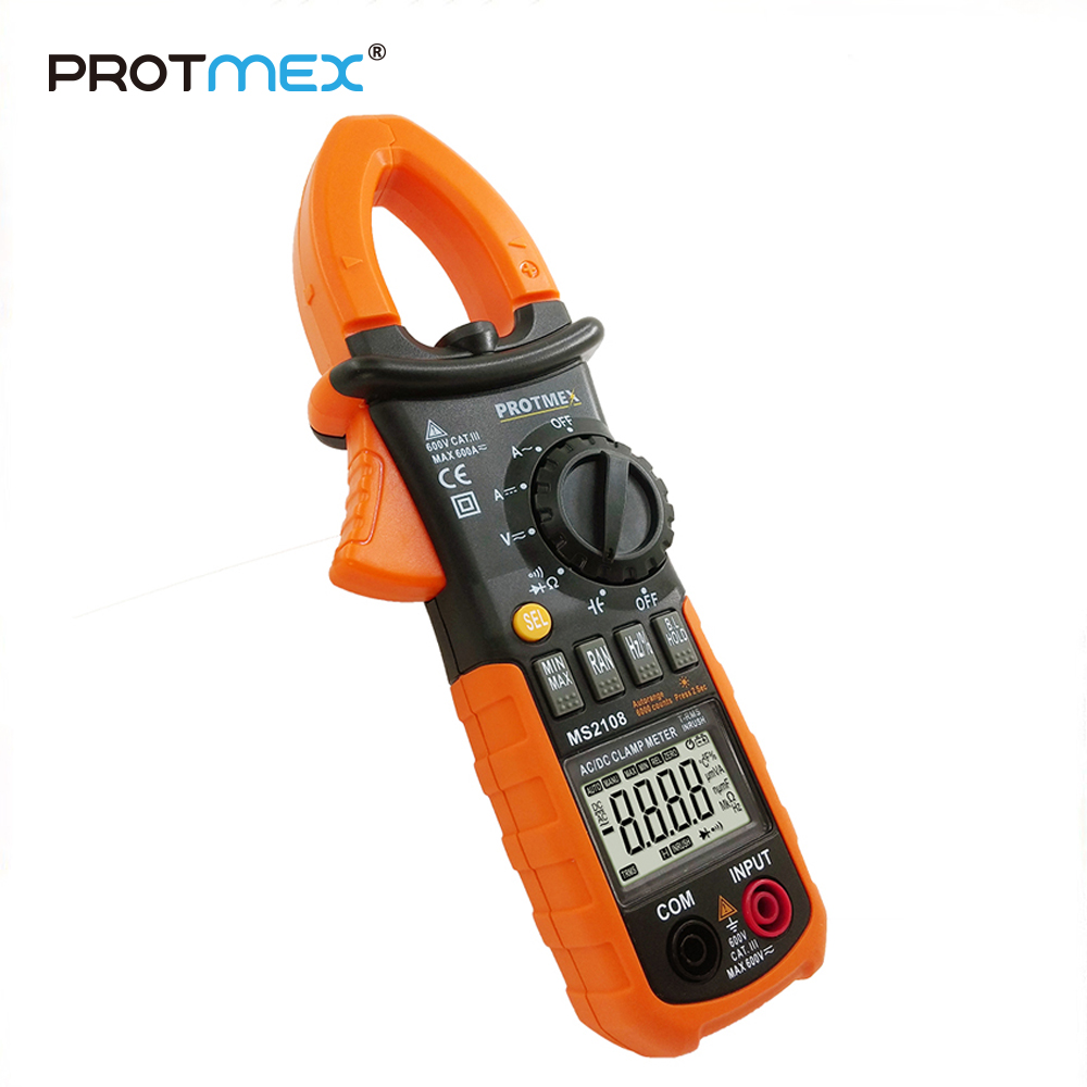 MS2108 6000 Counts T-RMS AC/DC Clamp Meters INRUSH Ammeter Voltmeter CapacitorOhmmeter Tester LCD Backlight Electric Tester