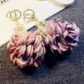 Handmade Camellia  Keychain Car Key Chain Key Ring Women Bag Charm Pendant