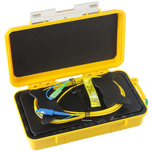 SC/UPC-SC/APC OTDR Dead Zone Eliminator,Fiber Rings ,Fiber Optic OTDR Launch Cable Box 1km SM 1310/1550nm цена