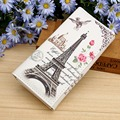 Paris Tower Pattern Women Wallets ID Cards Holder Lady Purses Handbags Coin Purse Long Clutch Moneybags Girls Wallet Burse Bags