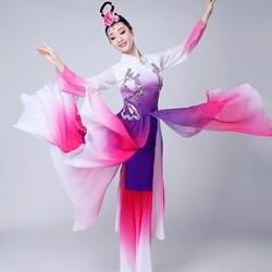 Высококачественный 2019 костюм для классических танцев Женский взрослый Элегантный Новый китайский стиль народный танцевальный костюм