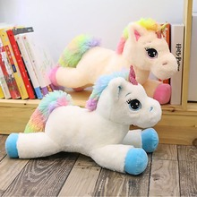Kawaii Rainbow Unicorn horse Plush toys soft dolls Stuffed Animals 2 colors birthday gifts for kids present baby Sleeping toy