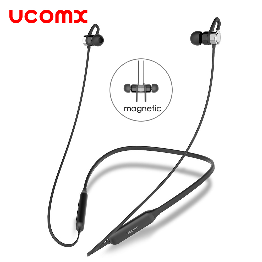 UCOMX G02S Wireless Headphone Sport Bluetooth Earphone Neckband Stereo Headset Magnetic Auriculares with Mic for Running Android wireless headphones bluetooth headset sport running magnetic stereo neckband earphone with mic csr 4 1 for phone iphone samsung