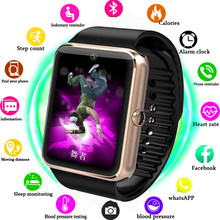 TOPBluetooth GT08 Smart Horloge Telefoon Beste Smartwatch 2019/2018 Sim-kaart TF Camera Smart Klok voor Apple Horloge iphone Android(China)