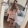 2016 Women Sexy Decorative Eye Mouth White Pajamas Negligee Pyjamas Vintage Nightgown Miniskirt Three -Piece A0009 Robe